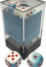 Chessex Chessex Gemini Blue-White/Red Set of 12 D6 Dice