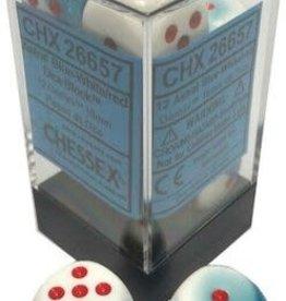 Chessex Chessex Gemini Blue-White/Red Set of 12 D6 Dice