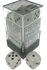 Chessex Chessex Frost Clear/Black Set of 12 D6 Dice