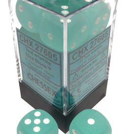 Chessex Chessex Frost Teal/White Set of 12 D6 Dice