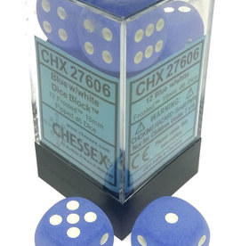 Chessex Chessex Frost Blue/White Set of 12 D6 Dice