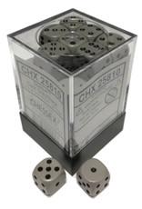 Chessex 12mm d6 Opaque: Dark Grey/Black