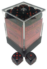 Chessex Chessex Opaque Black/Red Set of 36 D6 Dice
