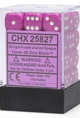 Chessex Chessex Opaque Light Purple/White Set of 36 D6 Dice