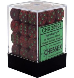 Chessex Chessex Speckled Strawberry Set of 36 D6 Dice