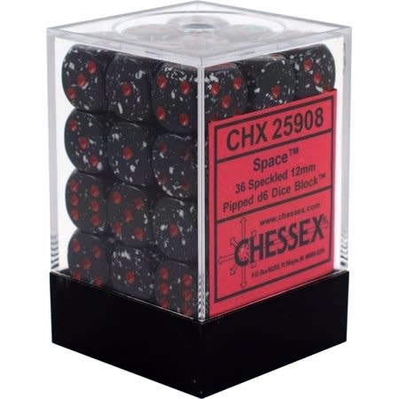 Chessex Chessex Speckled Space Set of 36 D6 Dice