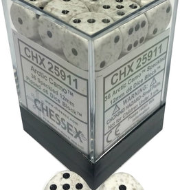 Chessex Chessex Speckled Arctic Camo Set of 36 D6 Dice
