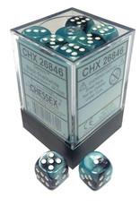 Chessex Chessex Gemini Black-Shell/White Set of 36 D6 Dice