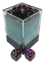 Chessex Chessex Gemini Purple-Teal/Gold Set of 36 D6 Dice