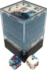 Chessex Chessex Gemini Astral Blue-White/Red Set of 36 D6 Dice