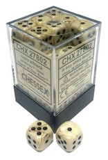 Chessex Chessex Marble Ivory/Black Set of 36 D6 Dice