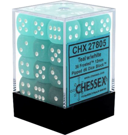 Chessex Chessex Frost Teal/White Set of 36 D6 Dice