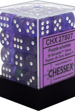 Chessex Chessex Boreal Purple/White Set of 36 D6 Dice