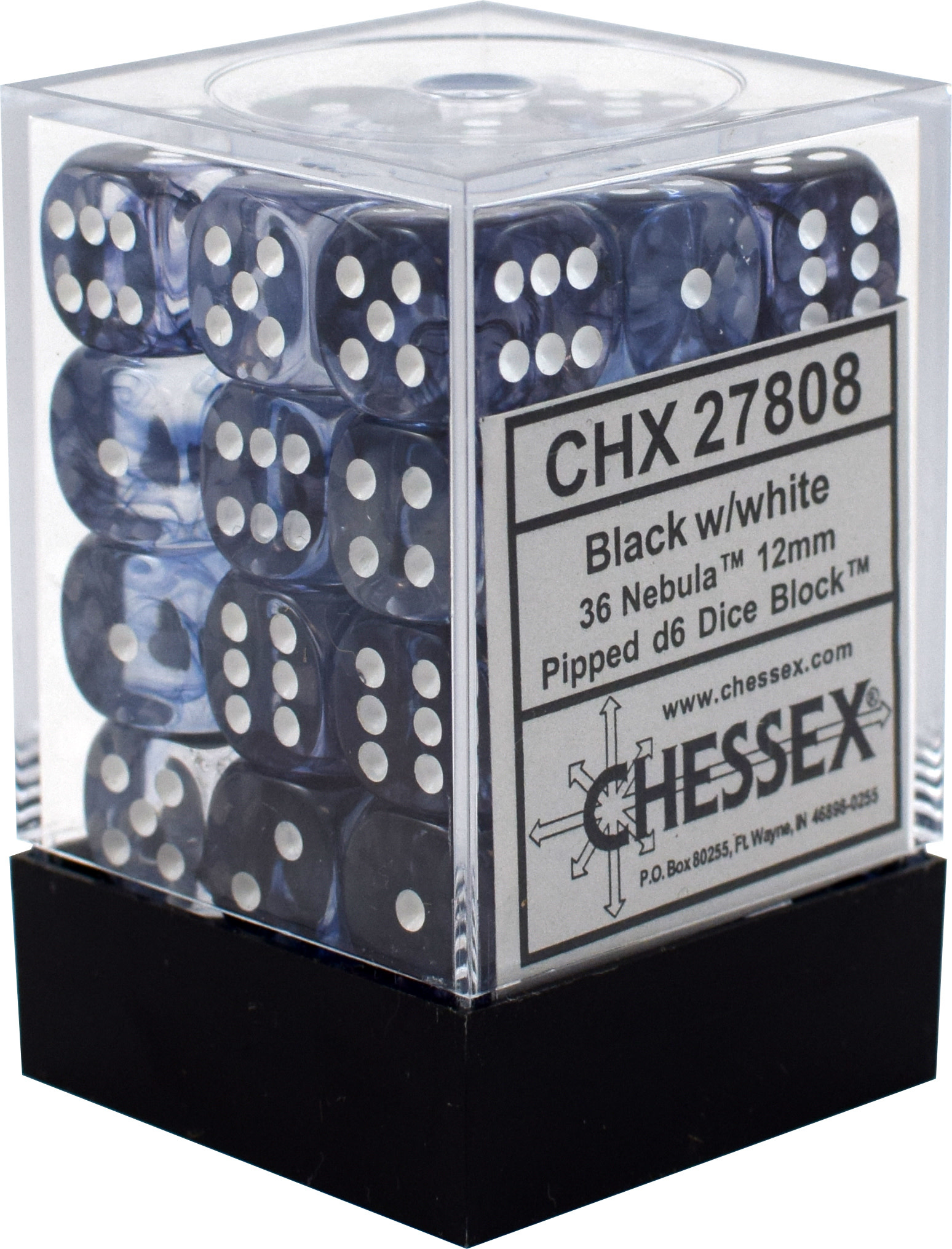 Chessex Chessex Nebula Black/White Set of 36 D6 Dice