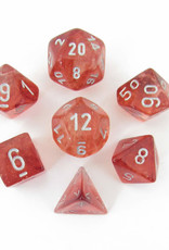 Chessex Chessex Nebula Luminary Red/Silver set of 7 Polyhedral Dice