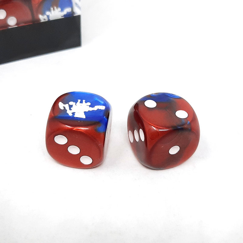 Frontline Gaming FLG Dice 12 Pack: Red White and Blue