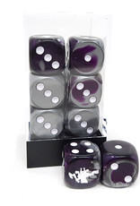 Frontline Gaming FLG Dice 12 Pack: Purple Steel and White