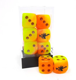 Frontline Gaming FLG Dice 12 Pack: Orange Yellow and Black