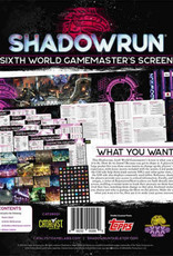 Catalyst Game Lab Shadowrun, 6th Ed.: Sixth World Gamemaster Screen