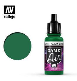 Vallejo Game Air: Sick Green, 17 ml.