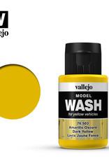 Vallejo Model Wash: Dark Yellow Wash, 35 ml.