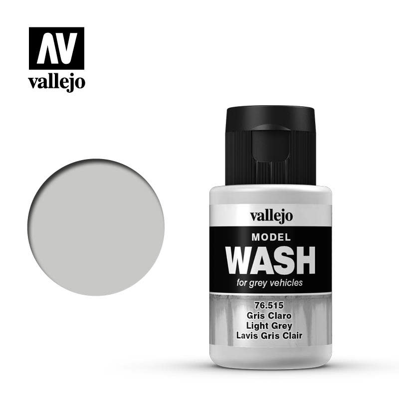 Vallejo Model Wash: Light Grey Wash, 35 ml.
