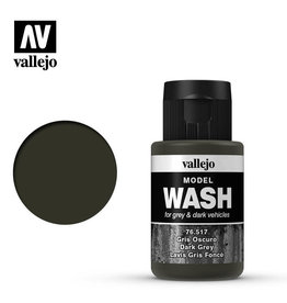 Vallejo Model Wash: Dark Grey Wash, 35 ml.