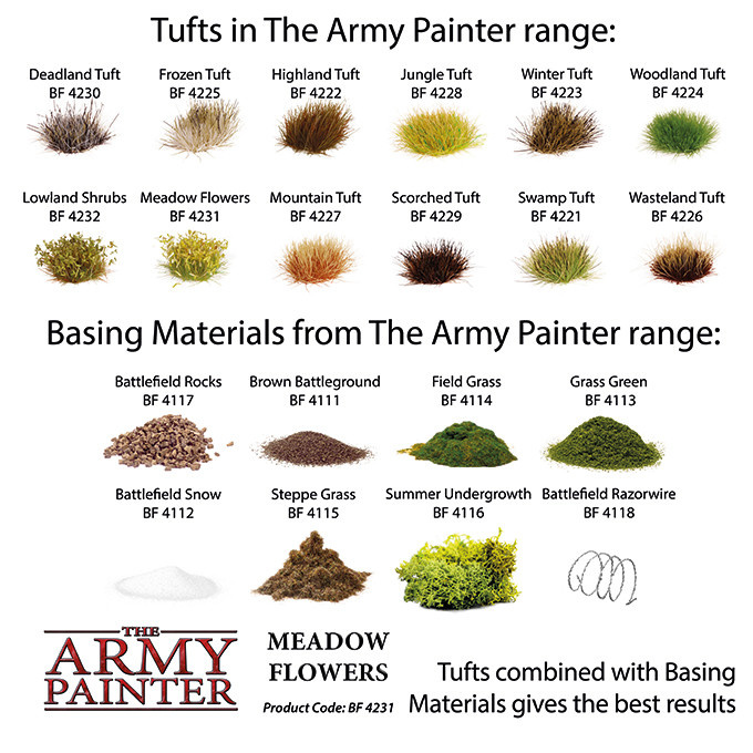 The Army Painter Battlefield: Foliage: Meadow Flowers