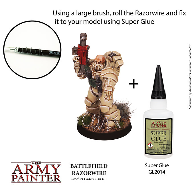 The Army Painter Battlefield: Basing: Razor Wire