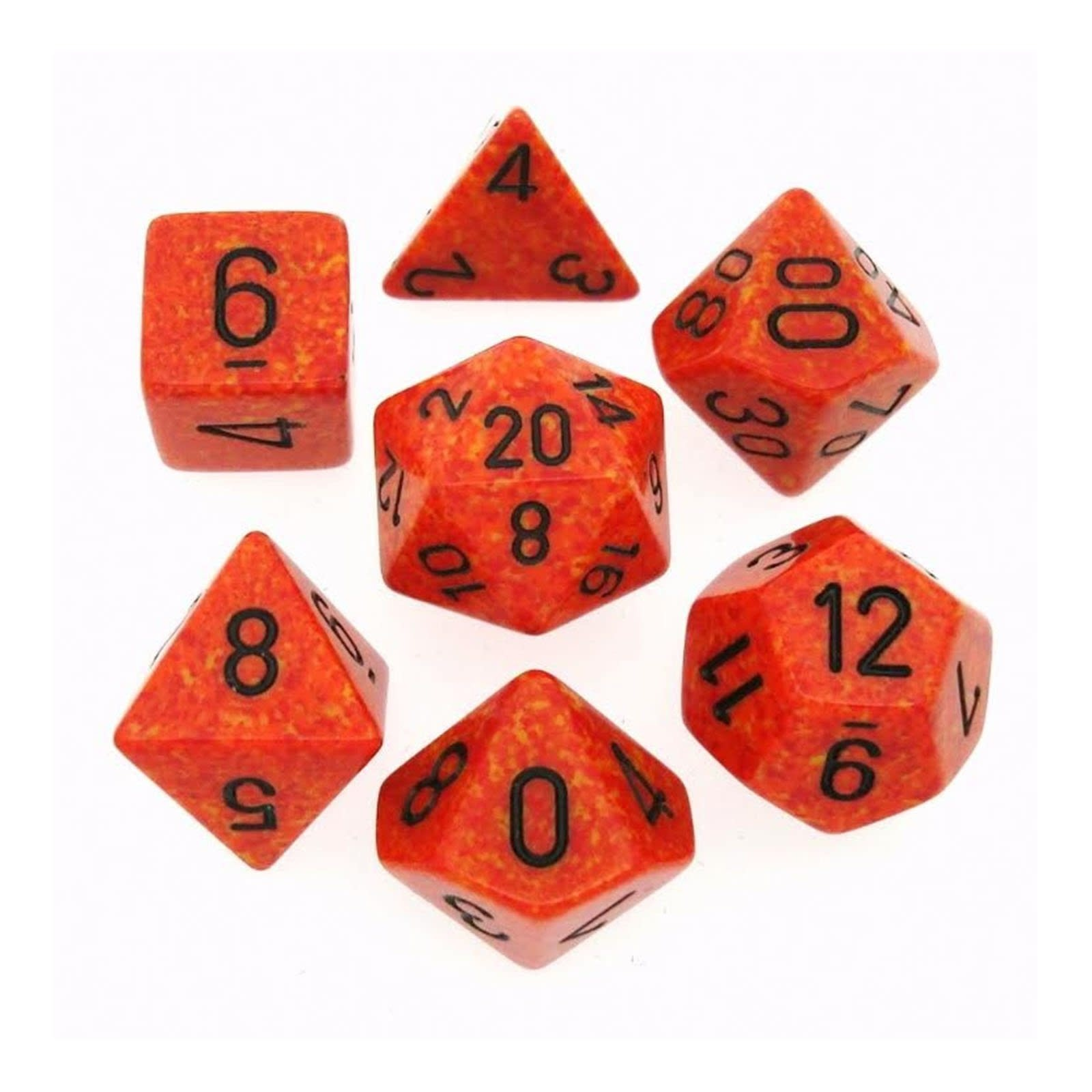 Chessex 7-Die Set Speckled Fire