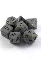 Chessex 7-Die Set Opaque: Dark Grey/Black