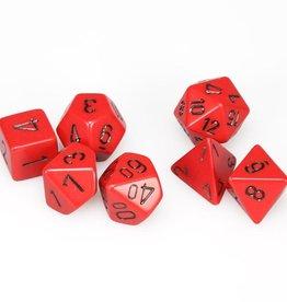 Chessex 7-Die Set Opaque Red/Black