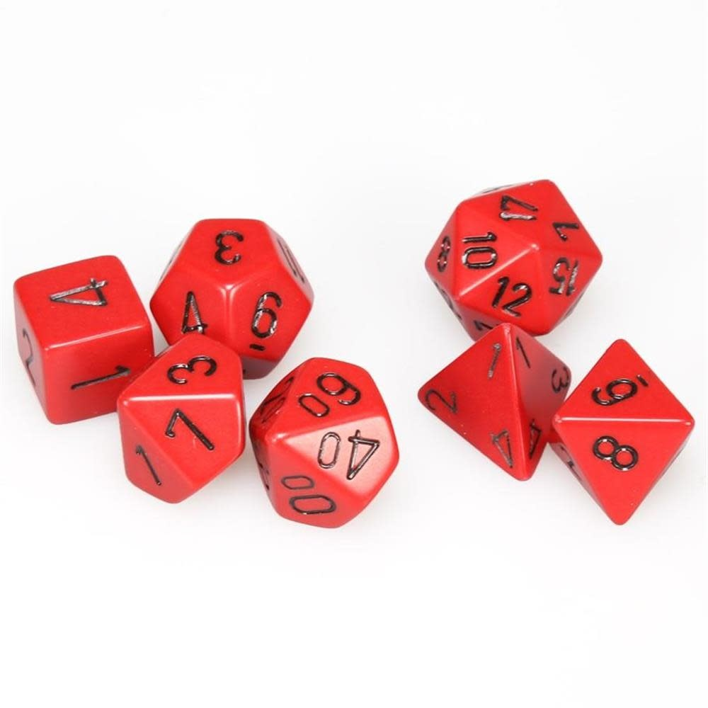 Chessex 7-Die Set Opaque Red/Black