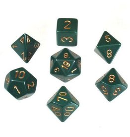 Chessex 7-Die Set Opaque Dusty Green/Copper