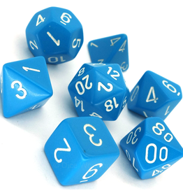 Chessex 7-Die Set Opaque Light Blue/White