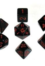 Chessex 7-Die Set Opaque Black/Red