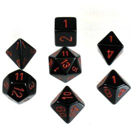 Chessex 7-Die Set Opaque Black/Red