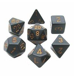 Chessex 7-Die Set Opaque Dark Grey/Copper