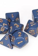 Chessex 7-Die Set Opaque Dusty Blue/Copper
