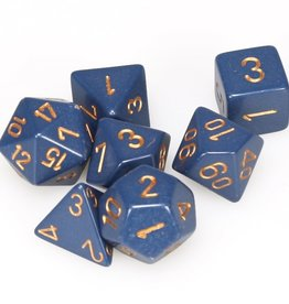Chessex 7-Die Set Opaque Dusty Blue/Copper