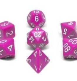 Chessex 7-Die Set Opaque Light Purple/White