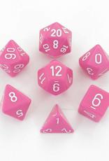 Chessex 7-Die Set Opaque Pink/White