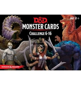 Gale Force 9 Dungeons and Dragons RPG: Monster Cards- Challenge 6-16 Deck (74 cards)