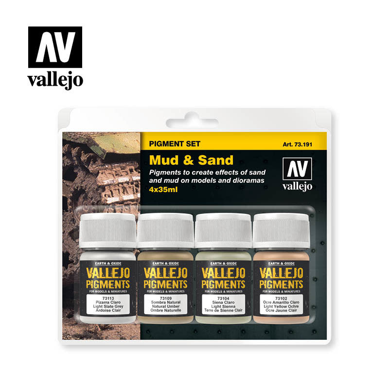 Vallejo Pigment Set Mud & Sand, 35. ml.