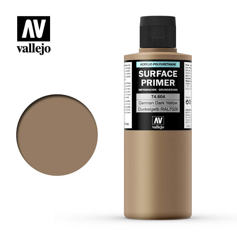 Vallejo Primer: German Dark Yellow, 200 ml.