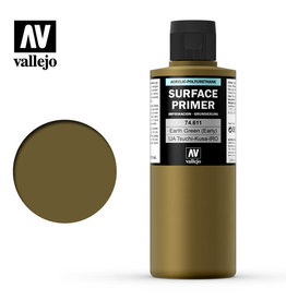 Vallejo Primer: Earth Green (early), 200 ml.