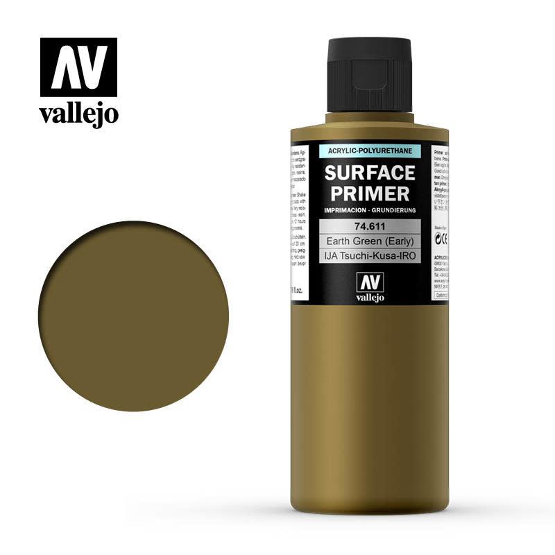 Vallejo Primer: Earth Green (early), 200 ml.
