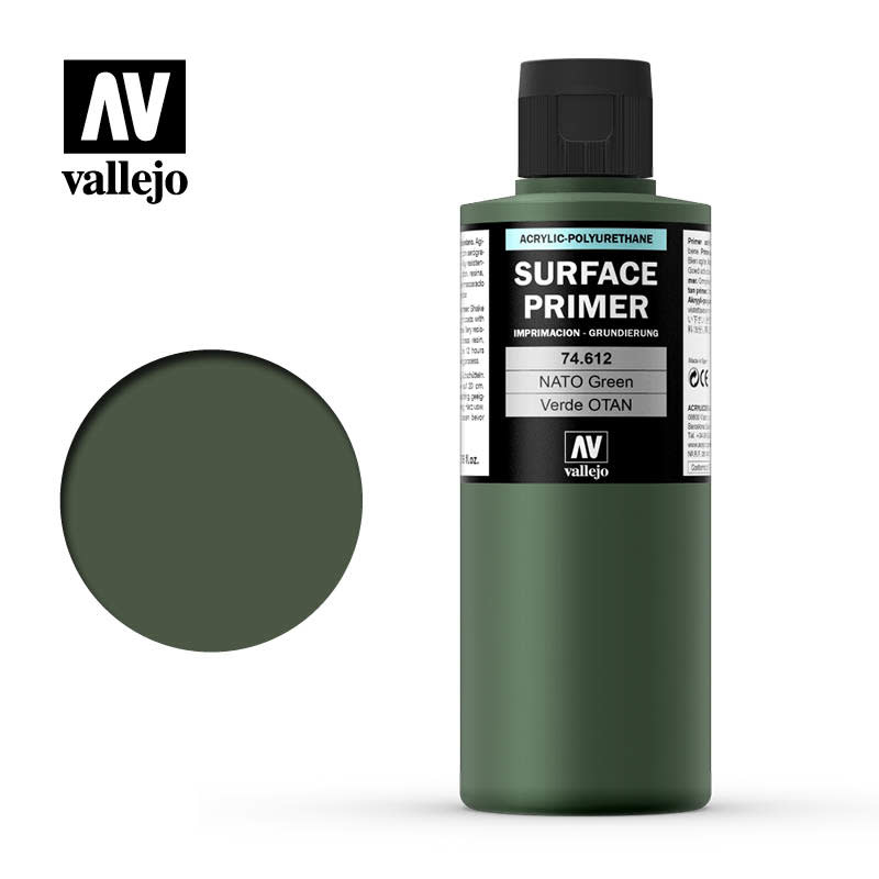 Vallejo Primer: NATO Green, 200 ml.