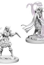 WizKids D&D Nolzur's Marvelous Unpainted Miniatures: W4 Tiefling Female Sorcerer