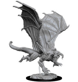WizKids D&D Nolzur's Marvelous Unpainted Miniatures: W8 Young Black Dragon